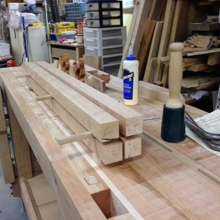 4 rift sawn sticks for the legs
