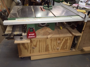201404 Table Saw cleanup 1