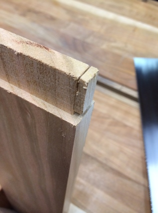 Trim the top of the tenon.