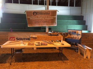 Woodcraft setup at the Maker Fair